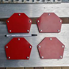 중형 용접자석 자석력 50lbs짜리 4개